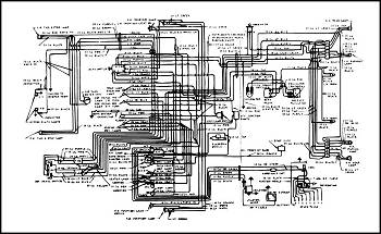 wiring diagram (all 6 cylinder) part #490220 1953-1955